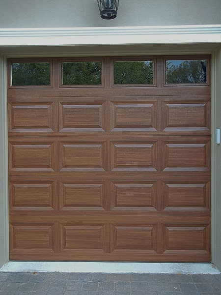 Very productive day everything i create paint garage for How to paint garage door to look like wood