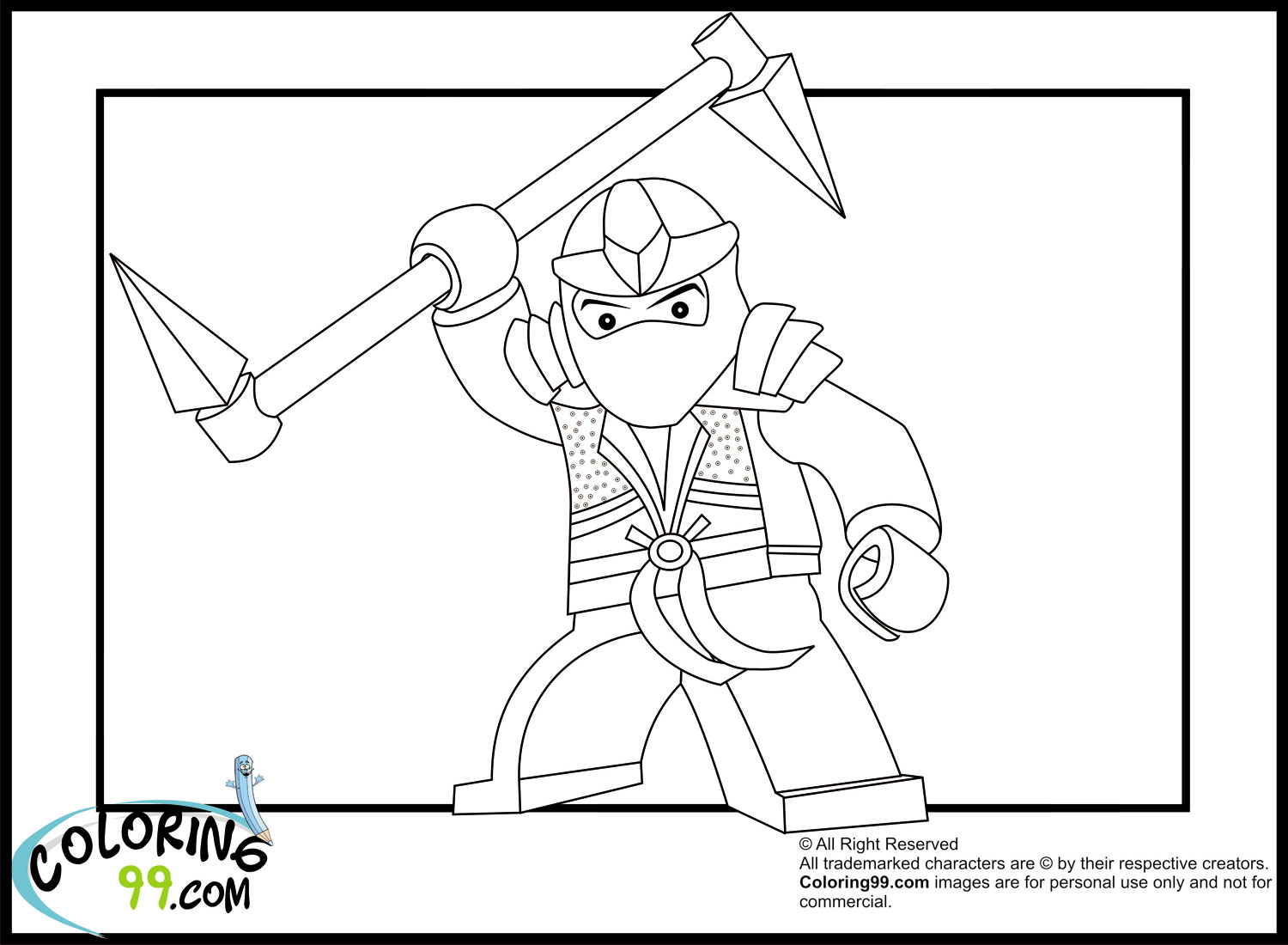 Printable Lego Colouring Pictures : Lego ninjago coloring pages free printable pictures