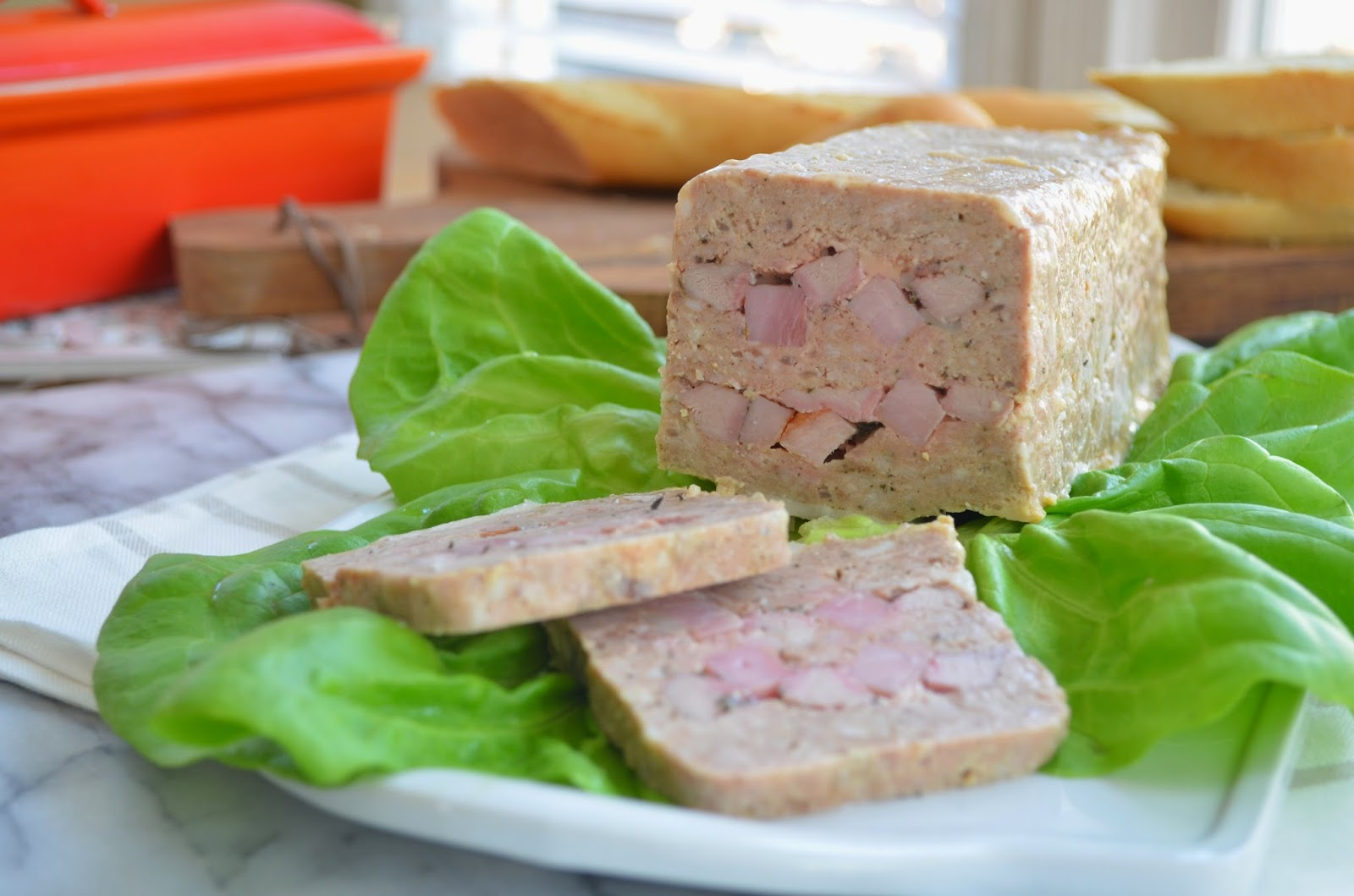 Pork and Veal Pate with Ham - Smell of Rosemary.