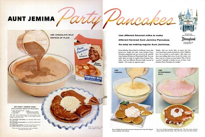 Kitchen historic aunt jemima party pancakes 1956 so easy heres how deluxe pancakes makes 14 to 16 pancakes 2 cups aunt jemima ccuart Gallery