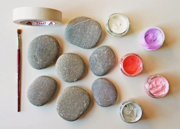 Diy piedras pintadas estilo moderno for Piedras pintadas a mano paso a paso