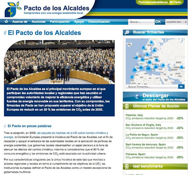 PACTE D'ALCALDES UE