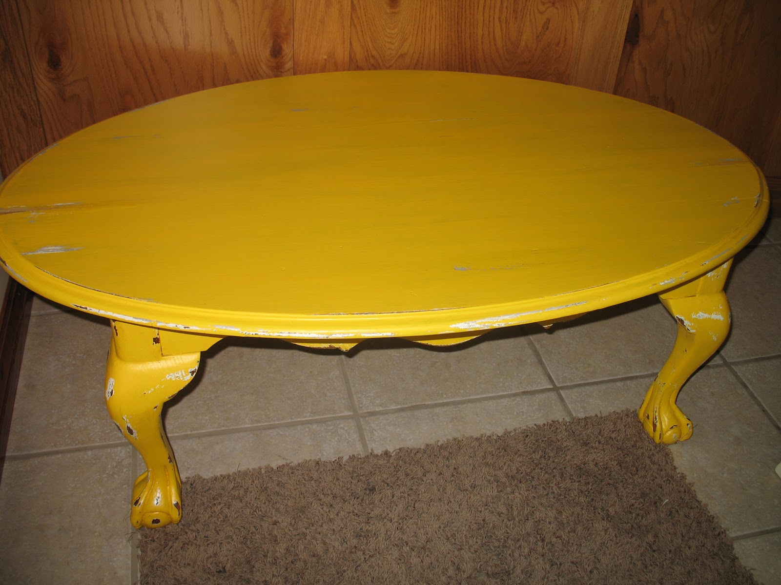 shabby and chic Mustard Yellow Coffee Table