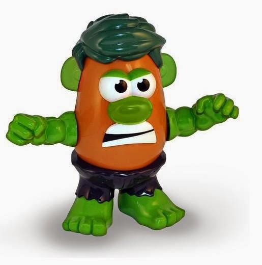 Mister Potato como Increíble Hulk