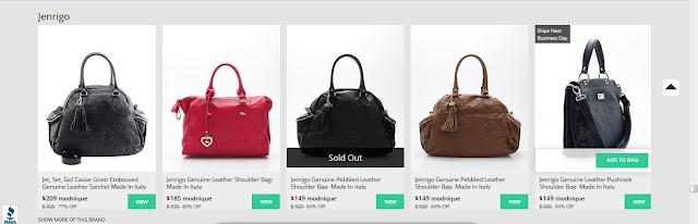 Mondnique Jenrigo handbag sale