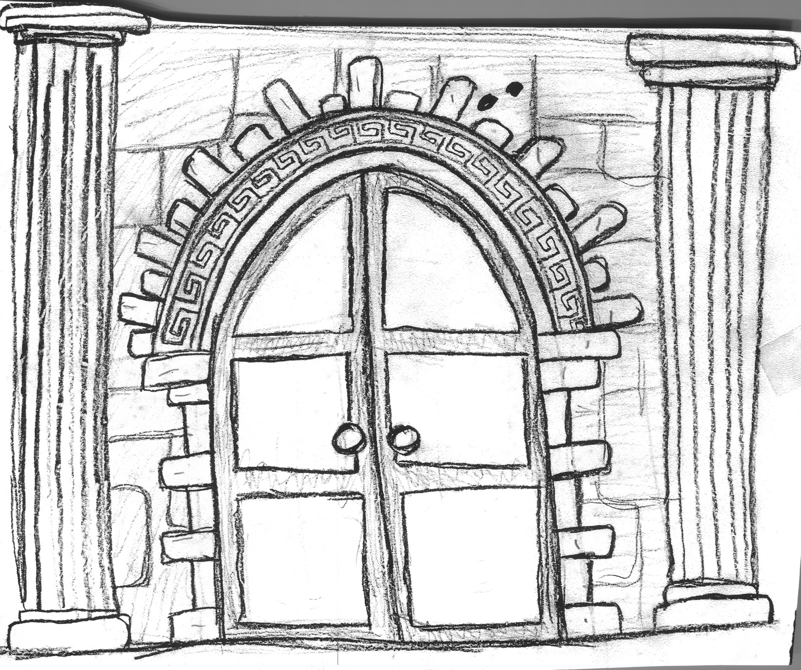... Creonu0027s chamber door and the archway exit to the rest of the penthouse. Below are a few of the final drawings that received the most votes.  sc 1 st  WGHS DRAMA Past Shows 2006-2013 - Blogger & WGHS DRAMA Past Shows 2006-2013: Spring Play 2009 -
