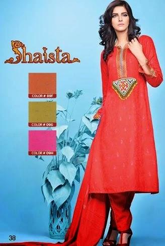 Shaista Cut Work Collection 2014