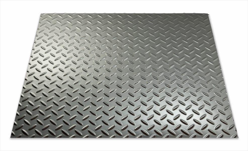 Brushed Aluminium Sheet : Chrome brushed aluminum argent silver diamond plate