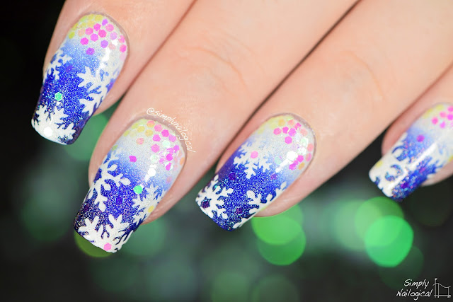 Simply Nailogical: Snowflake nail art then a dog peed on it