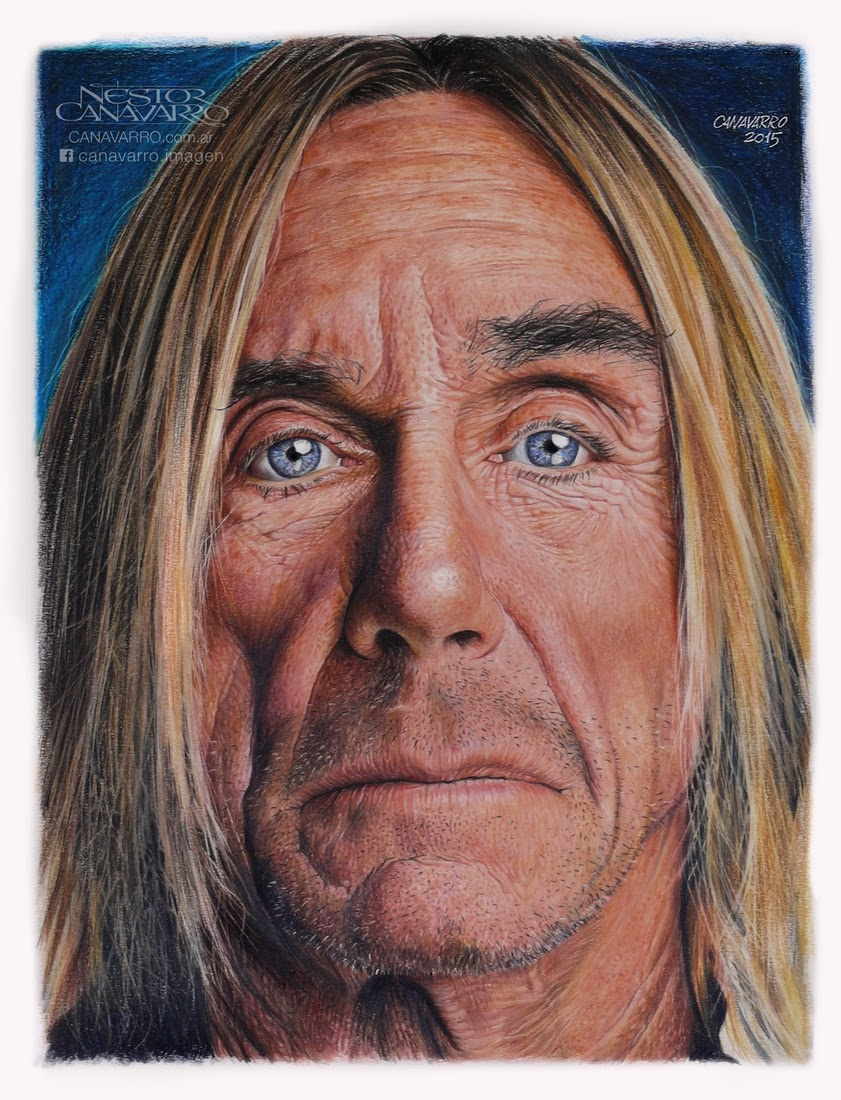 09-Iggy-Pop-Nestor-Canavarro-Celebrity-Portraits-Animated-Drawings-www-designstack-co