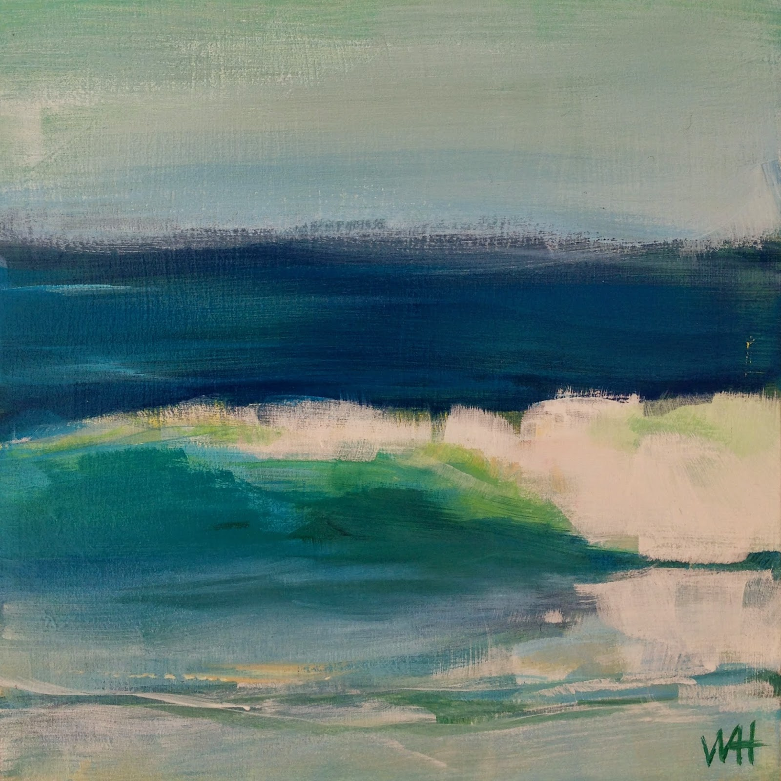 ocean wave, daily painting, seascape