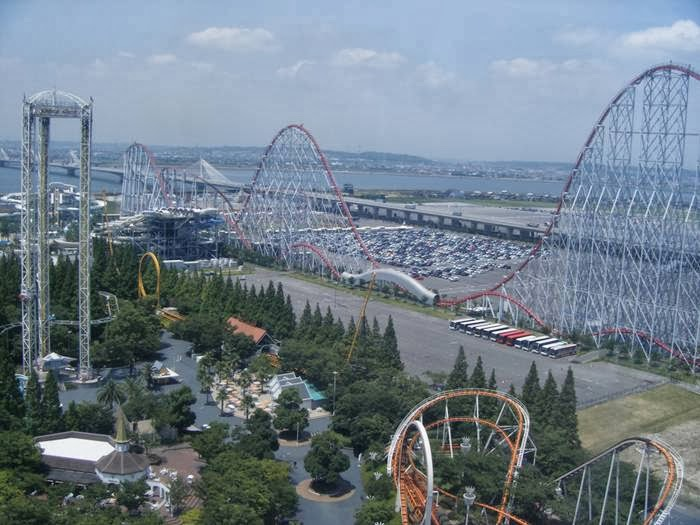 Nagashima Spa Land is a major amusement park in Kuwana, Mie Prefecture, Japan. It features several roller coasters, thrill rides, and kid rides, a giant Ferris wheel, and a water park.