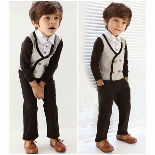 Gambar anak keren laki-laki pakai baju korea