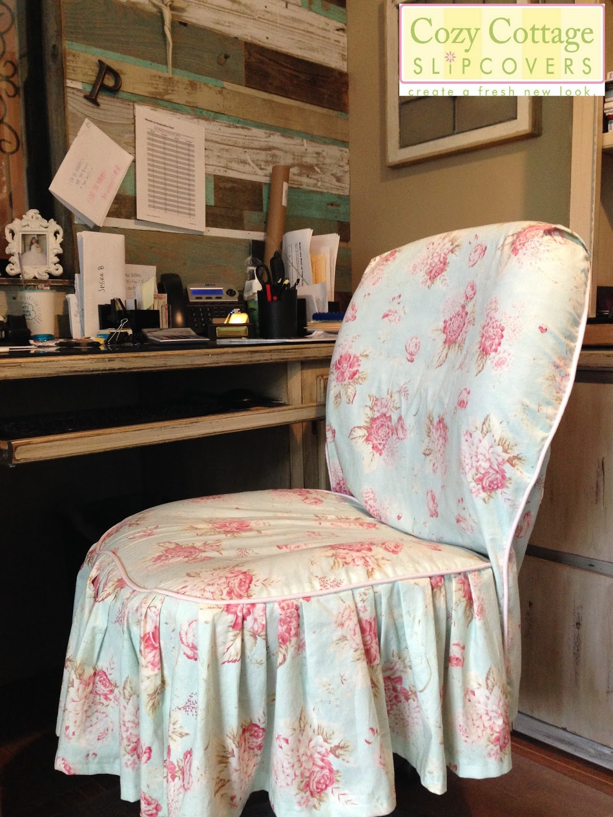 Cozy Cottage Slipcovers: Shabby Chic Texas Style in the Office