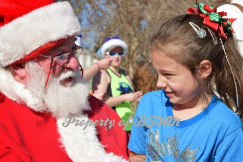 grace with santa