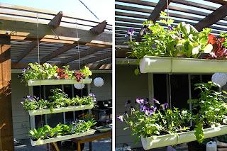 Autossustentável: Horta Vertical Com Calha De PVC