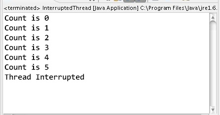 how to interrupt a thread in java learn java by exles