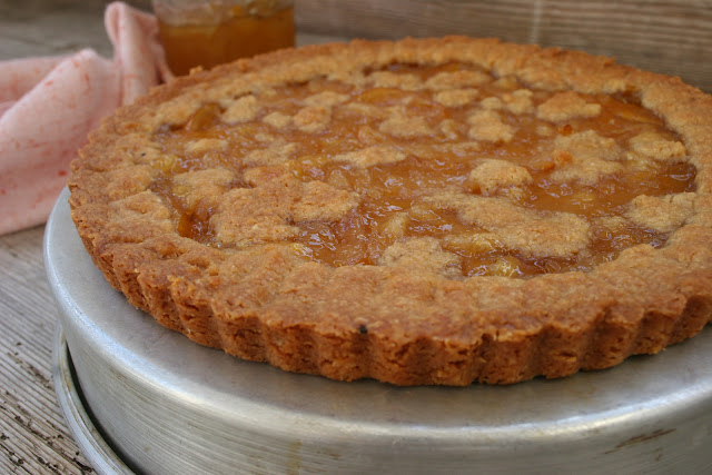Meyer Lemon Honey Marmalade Linzer Torte