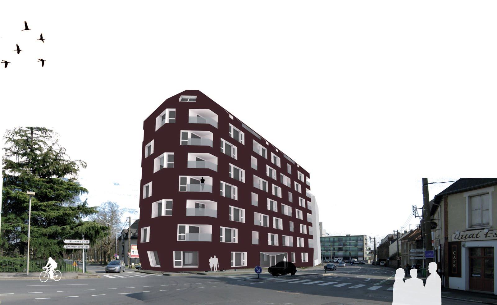 27 logements sociaux rennes bohuon bertic architectes for Architectes rennes