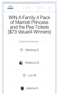 Out of 340 Entries Congrats to our 4 winners for THE PRINCESS AND THE PEA at Marriott Theatre