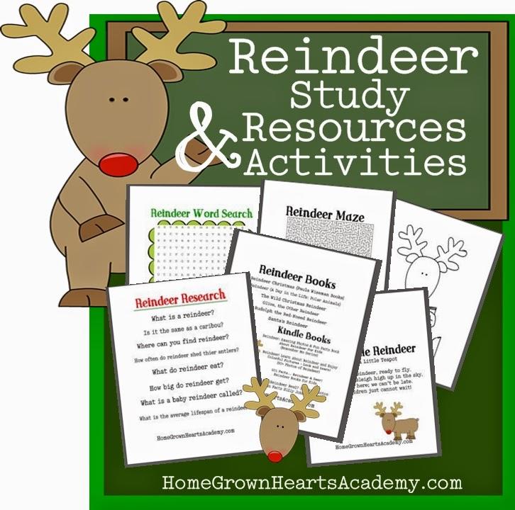 FREE Reindeer Study Printables