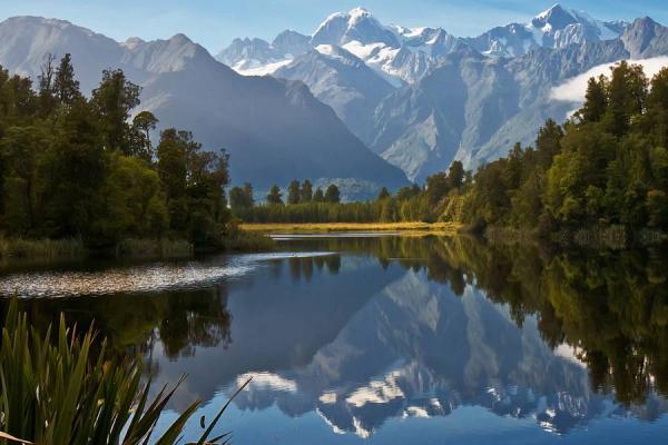 Lago Matheson en Nueva Zelanda