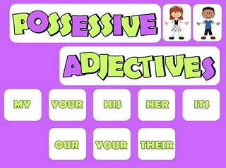 possessive adjetives, adjetivo posesivo en ingles