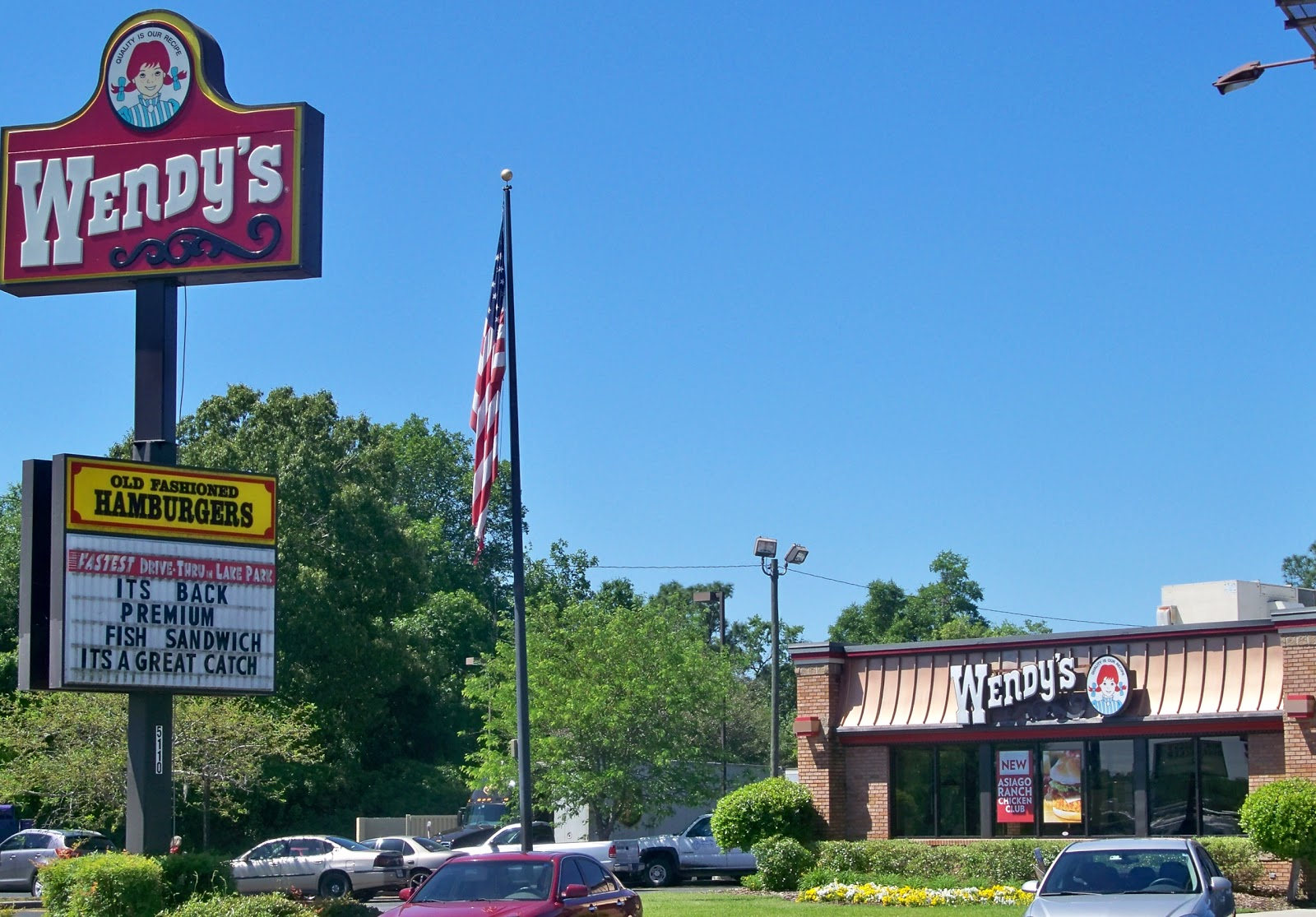 Wendy S Lake Park Valdosta Georgia Jewell Futch Road I 75 Hamburgers Fast Food Restaurant Lowndes County Ga