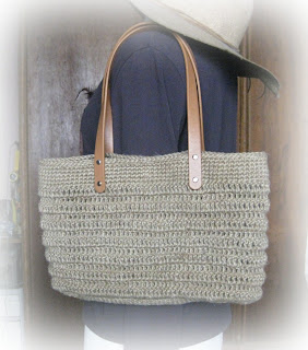 Crochet Tote Pattern Free : Crochet and Other Stuff: Crochet a Hemp Tote - free pattern