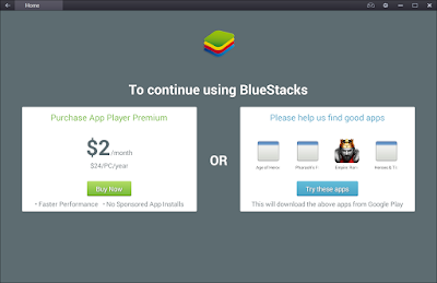 "Cara Menghilangkan Pesan ""To Continue Using BlueStacks"""