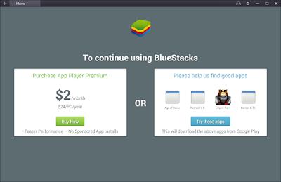"Cara Menghilangkan Pesan ""To Continue Using BlueStacks"""