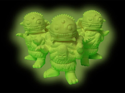 Kickstarter Edition Glow in the Dark Mini-Cheestroyer Vinyl Figure by Bad Teeth & Double