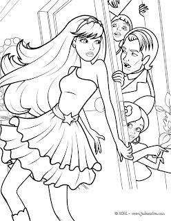 paginas para colorear de Barbie en La Princesa y la estrella del Pop