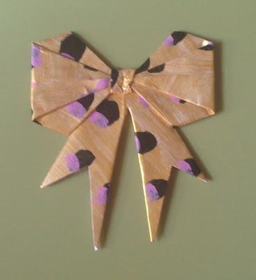 DIY Lazo origami estampado