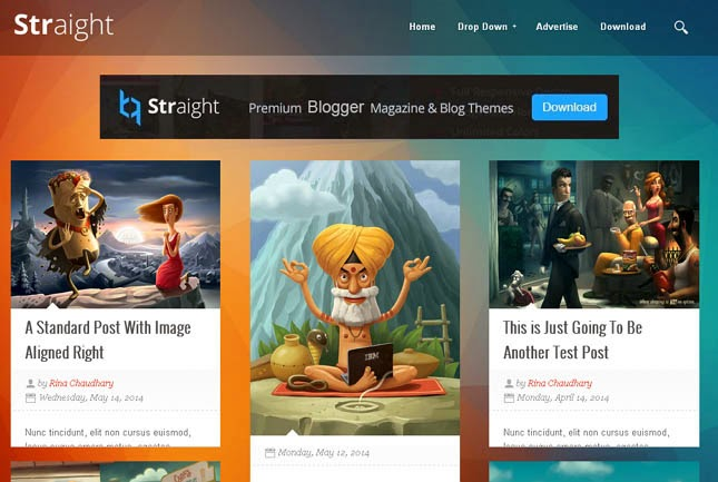 Straight Grid Responsive Blogger Template