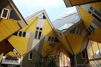 Cubic House : Rumah Unik di Rotterdam, Belanda!