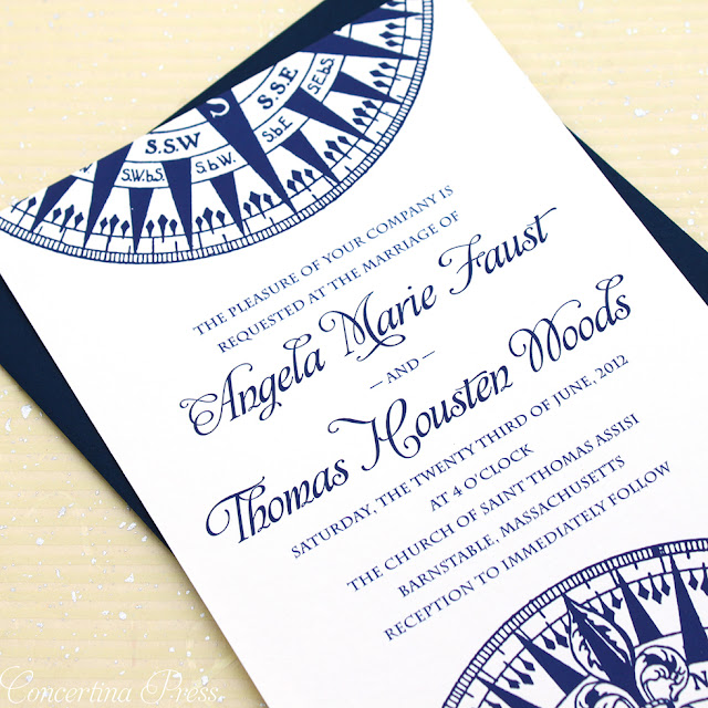 these navy compass wedding invitations are perfect for a wedding on a sailboat