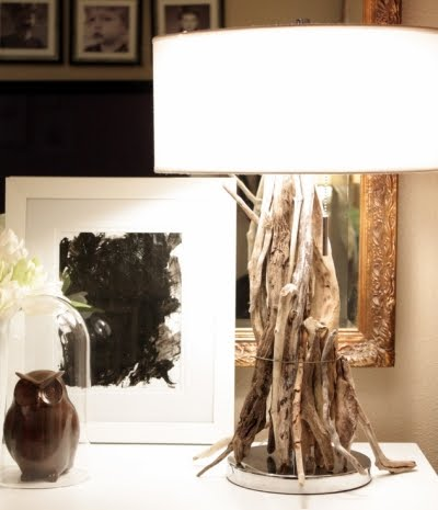 easy to make driftwood table lamps completely coastal. Black Bedroom Furniture Sets. Home Design Ideas