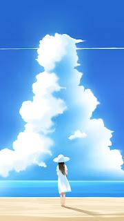 Beautiful Summer Day Illustration iPhone 5 hd wallpaper 2013