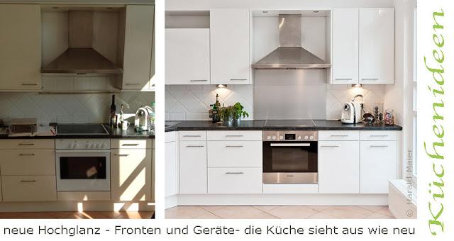 Küchenmodernisierung statt Neukauf - bei dieser Küche mal wieder ein voller Erfolg! KM-Küchenmodernisierung München GmbH Harald Maier