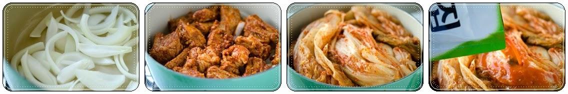 Cách nấu canh Sườn non Kim chi ngon 2