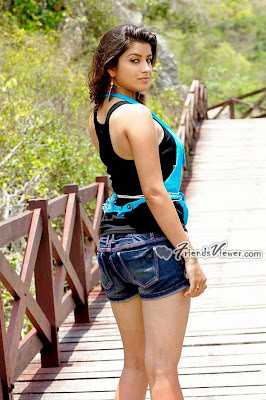 Beautiful Indian Tollywood actress Madhurima wearing sexy denim shorts and expose her body figure
