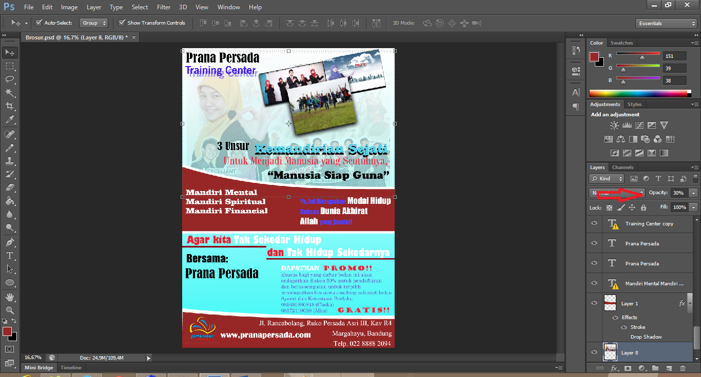 pembuatan brosur menggunakan photoshop
