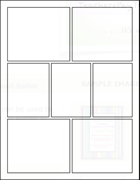 blank comic strip templates