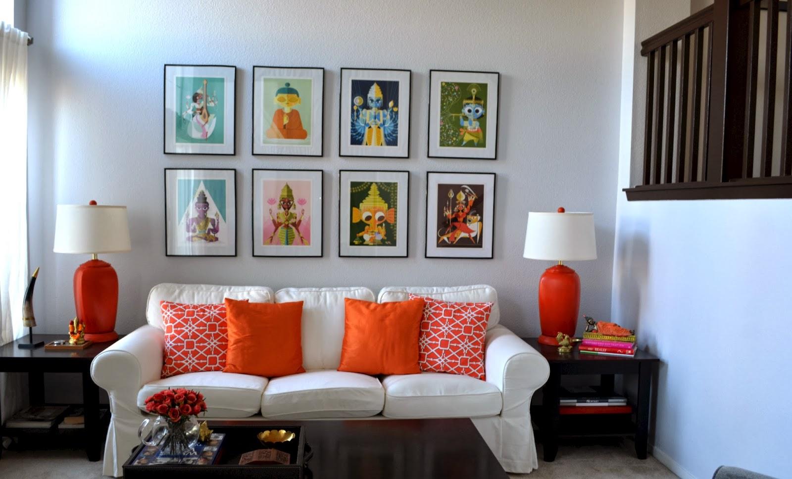 Orange Couch Living Room Weekend Tweaks Living Room Makeover