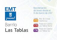 CAMBIOS AUTOBUSES EMT EN LAS TABLAS