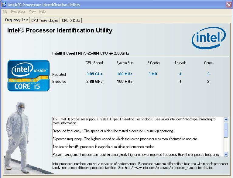 Intel Processor Identification Utility to test CPU for ESX Installation on VMware Workstation