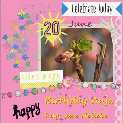June 2016 - Happy Birthday Anja