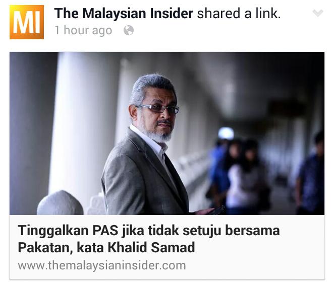 DEMOKRASI TERKINI Khalid Samad Tidak Suka PR KELUAR PAS Rafizi Tidak Suka Anwar KELUAR PKR