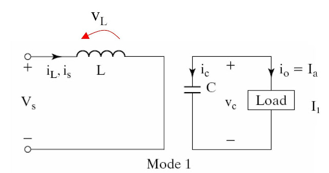 Power electronic converter: boost regulators-mode 1